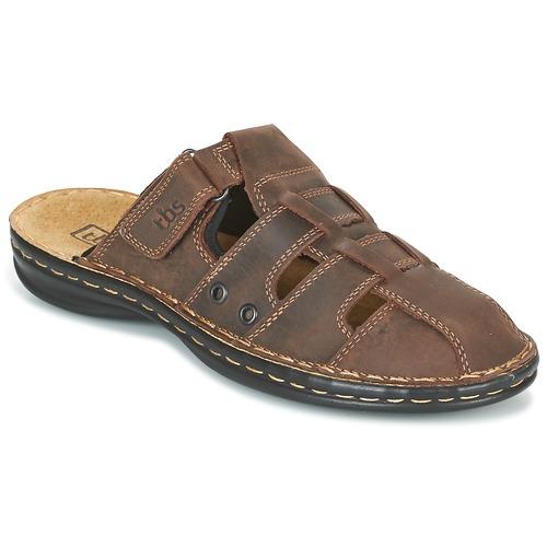 Shoes Men Mules TBS BASSOA Brown