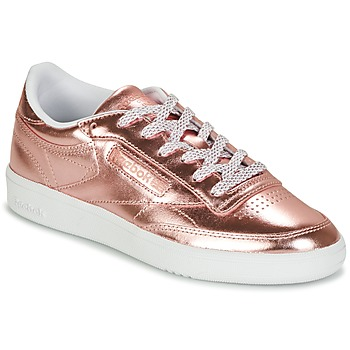 Shoes Women Low top trainers Reebok Classic CLUB C 85 S SHINE Pink / Metal