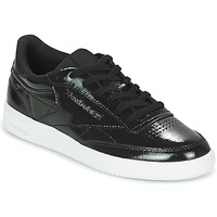 Shoes Women Low top trainers Reebok Classic CLUB C 85 PATENT Black