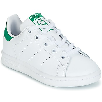 Shoes Children Low top trainers adidas Originals STAN SMITH C White / Green