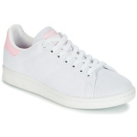 Shoes Women Low top trainers adidas Originals STAN SMITH W White / Pink