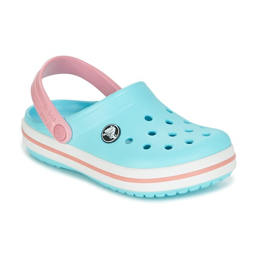 Shoes Girl Clogs Crocs Crocband Clog Kids Blue / Pink