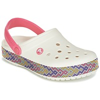 Shoes Women Clogs Crocs CROCBAND GALLERY CLOG White / Pink