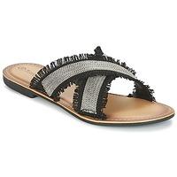 Shoes Women Mules Moony Mood IRTA Black / Silver