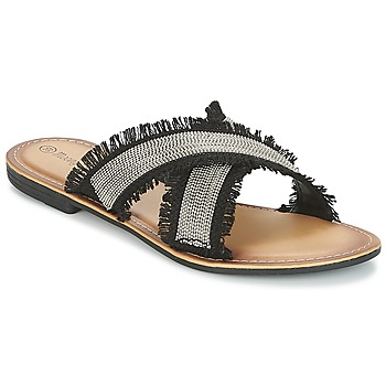 Shoes Women Mules Moony Mood IRTA Black / Silver