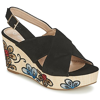 Shoes Women Sandals Moony Mood IMILE Black / Flower
