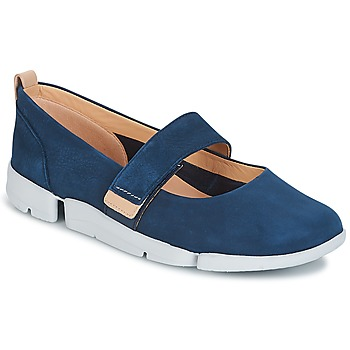 Shoes Women Ballerinas Clarks TRI CARRIE Blue