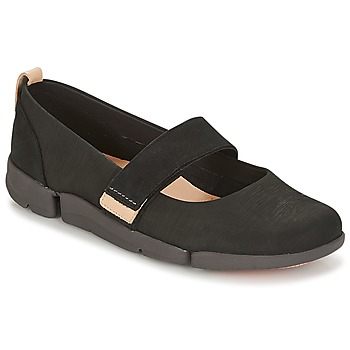 Shoes Women Ballerinas Clarks TRI CARRIE Black