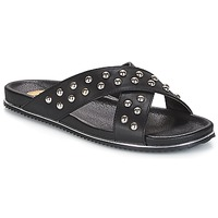 Shoes Women Mules Buffalo ALOLAJEP Black