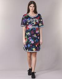material Women Short Dresses Love Moschino W5A0302 Black / Multicoloured