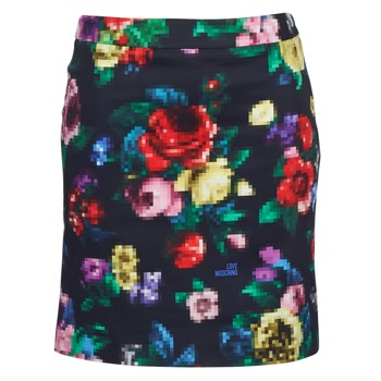 material Women Skirts Love Moschino WGC7100 Black / Multicoloured