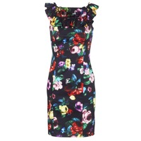 material Women Short Dresses Love Moschino WVG3100 Black / Multicolour