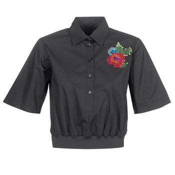 material Women Shirts Love Moschino WCC5401 Black