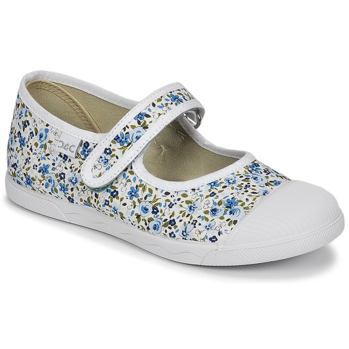 Shoes Girl Ballerinas Citrouille et Compagnie APSUT Blue / White