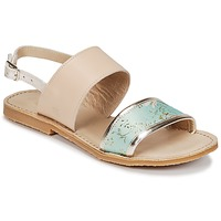 Shoes Girl Sandals Citrouille et Compagnie IOCHARLI Beige / Blue