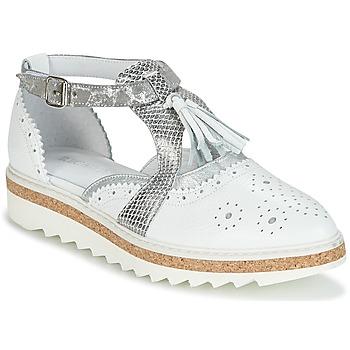 Shoes Women Derby shoes Regard RASTANU White / Silver