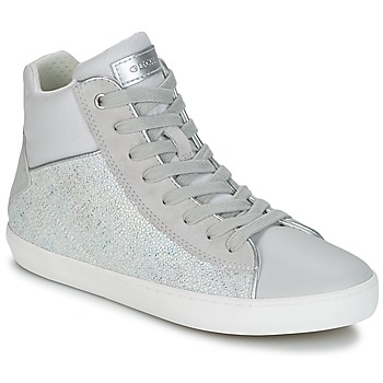Shoes Girl High top trainers Geox J KILWI G. H Grey / Silver