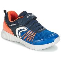 Shoes Boy Low top trainers Geox J WAVINESS B.C Marine / Orange