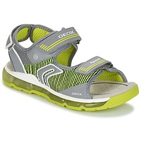 Shoes Boy Sports sandals Geox J S.ANDROID B.A Grey / Green