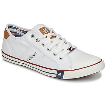 Shoes Men Low top trainers Mustang TIRON White