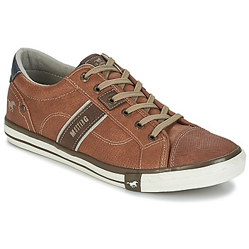 Shoes Men Low top trainers Mustang FILI Cognac