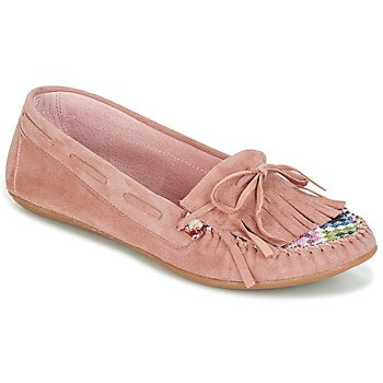 Shoes Women Loafers Ippon Vintage MOC-WAX-ROSE Pink
