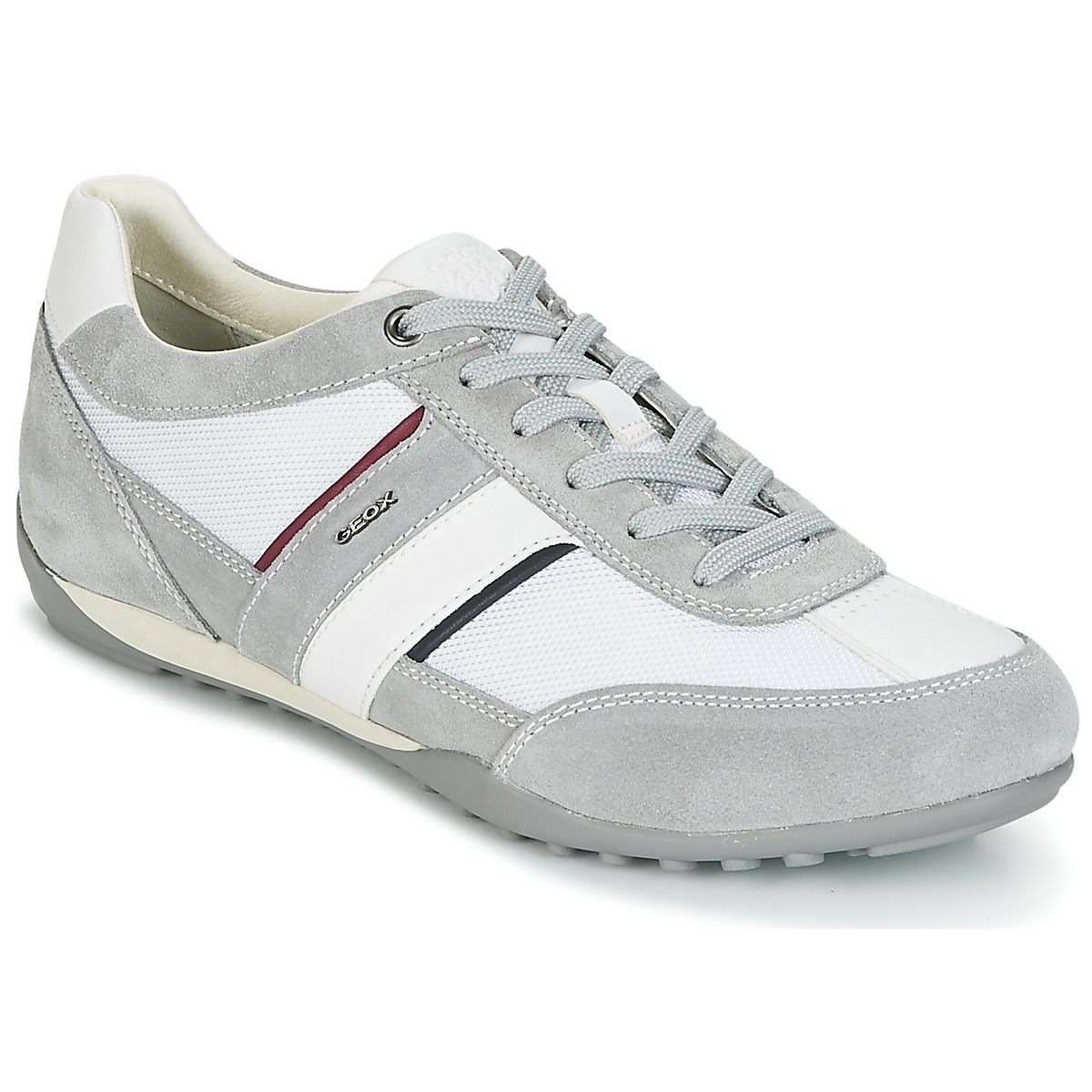 Geox U WELLS C White / Grey - Free delivery | Spartoo NET ! - Shoes Low top  trainers Men USD/$96.00