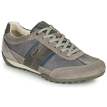 Shoes Men Low top trainers Geox U WELLS C Grey