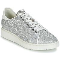 Shoes Women Low top trainers Geox D THYMAR C Silver / White