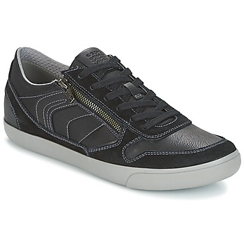 Shoes Men Low top trainers Geox U BOX C Black