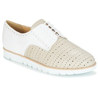 Shoes Women Derby shoes Geox KOOKEAN Taupe / White