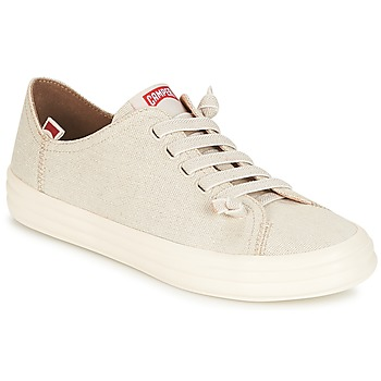 Shoes Women Low top trainers Camper HOOP Cream