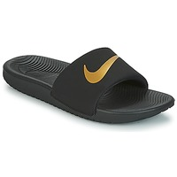 Shoes Children Tap-dancing Nike KAWA GROUNDSCHOOL SLIDE Black / Gold