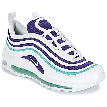 Shoes Women Low top trainers Nike AIR MAX 97 ULTRA '17 SE W White / Violet / Green