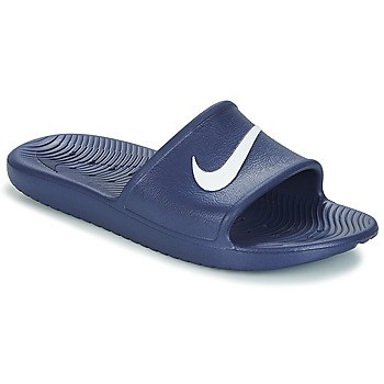 Shoes Men Tap-dancing Nike KAWA SHOWER SLIDE Blue / White