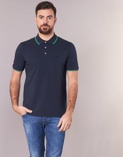 material Men short-sleeved polo shirts Benetton MADURI Marine