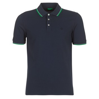material Men short-sleeved polo shirts Benetton MADURI Marine