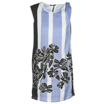 material Women Short Dresses Sisley LAPOLLA Blue / White / Black