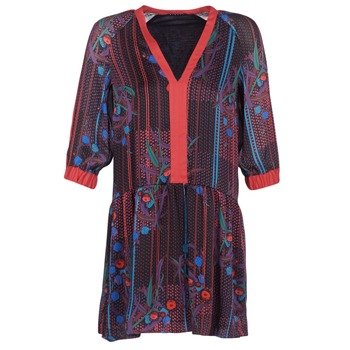 material Women Short Dresses Sisley CEPAME Black / Red / Blue