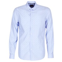 material Men long-sleeved shirts Sisley KELAPSET Blue / Clear