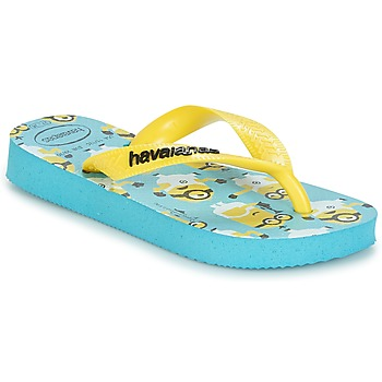 Shoes Boy Flip flops Havaianas MINIONS Blue / Yellow