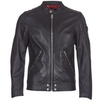 material Men Leather jackets / Imitation le Diesel L SQUAD Black
