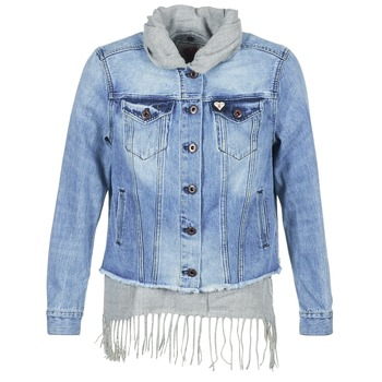 material Women Denim jackets Maison Scotch XAOUDE Blue / Clear / Grey