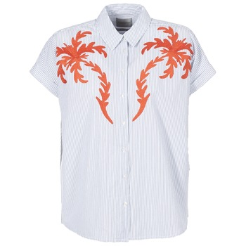 material Women Blouses Maison Scotch NOFE Blue / White / Red