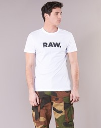 material Men short-sleeved t-shirts G-Star Raw HOLORN R T S/S White