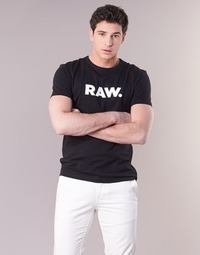 material Men short-sleeved t-shirts G-Star Raw HOLORN R T S/S Black