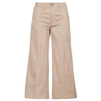 material Women chinos G-Star Raw BRONSON HIGH LOOSE CHINO 7/8 WMN Beige