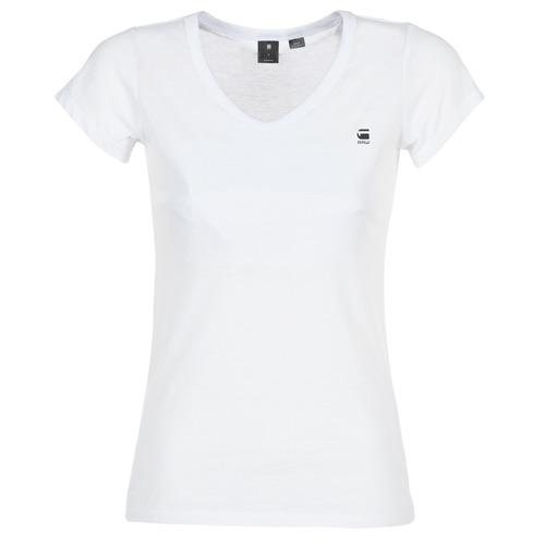 material Women short-sleeved t-shirts G-Star Raw EYBEN SLIM V T WMN S/S White