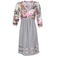 material Women Short Dresses Cream ZAIROCE Grey