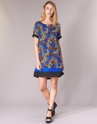 material Women Short Dresses Molly Bracken JUNCE Blue